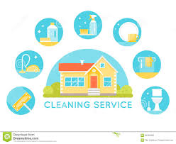 cleaning services stock photo image  house surrounded by cleaning services images household cleaning agents and tools round icons royalty