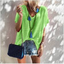 2019 <b>Plus Size S 5XL New</b> Sexy Casual Summer Neon Top Green ...