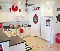 black white and red kitchen ideas