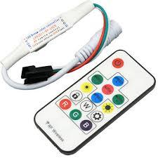 <b>DC5</b>-<b>24V</b> RF remote controller F WS2812B WS2811 <b>Pixel led strip</b> ...