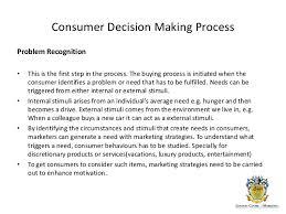 consumer bahavior decision making process  purchase evaluation  consumer decision making
