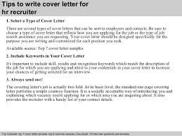 3 tips to write cover letter for hr recruiter sample hr recruiter cover letter
