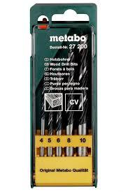 <b>Набор сверл Metabo по</b> дереву CV 4-10mm 5шт 627200000 ...