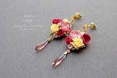 Flower berry polymer clay jewelry set. Designer <b>necklace</b>. <b>Dusty</b> ...