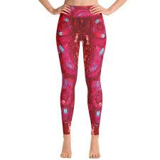 Ventcri Pants | Hpkaty Red <b>Sequin Print Yoga Leggings</b> By | Poshmark