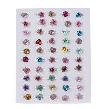 50 шт., <b>кольца</b> для детей, для <b>девочек</b>, цветные стразы, <b>кольца</b> ...