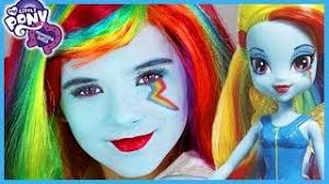 my little pony rainbow dash makeup tutorial equestria doll cosplay kittiesmama