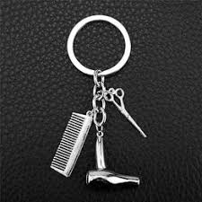 Women's Hairdresser Scissors Combs <b>Stylist</b> Key Ring <b>Pendant</b> ...