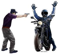 Resultado de imagem para assaltantes em uma moto vermelha
