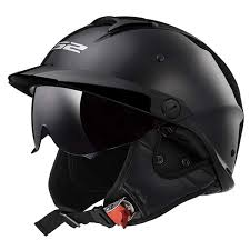 LS2 Helmets Rebellion <b>Motorcycle Half Helmet</b> (Matte Black - X-Small)
