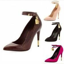 <b>Hot</b> Womens <b>Gold</b> Lock <b>Pointed Toe</b> Gladiator Stiletto High Heel ...