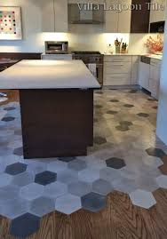 Gray Tile Kitchen Floor This Beautiful New York City Installation Flows Hardwood Floors
