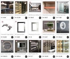 <b>UKE</b> Square anodized <b>aluminum</b> frame for kitchen cabinet glass ...