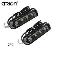 <b>2Pcs 4 LED</b> Vehicle Flashing Grill Lights Bar <b>Strobes</b> Warning ...