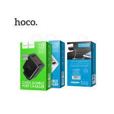 <b>Зарядное устройство Hoco C25A</b> LED 2USB цвет черный | Toyka