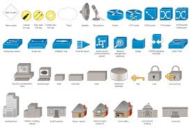 computer network diagrams solution   conceptdrawdesign elements   logical symbols