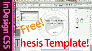 Indesign Template for your Master  Bachelor or Honors Thesis  Part