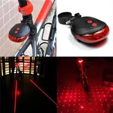 1 Pcs Bicycle <b>5 LED</b> + 2 <b>Laser Beam</b> Tail Light Safety Riding ...