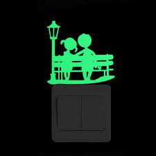3D wall <b>stickers</b> for kids room Kungfu <b>Luminous Switch Sticker</b> glow ...