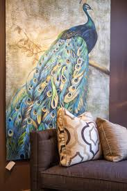 home accents interior decorating: marvelous decoration ideas with peacock home accents interior design modern blue peacock pattern wall painting