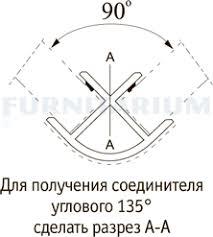 <b>Уголок 90 градусов</b> (<b>высота</b> 100), алюм. мат. 19.30/400.10, 19.30 ...