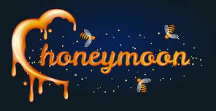 <b>Honey Moon</b> Concept. Heartshaped Halfmoon Made Of <b>Honey</b> ...