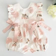 Fashion <b>2019 Baby Girl summer</b> clothing cute Deer Flower cotton ...