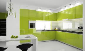 Camera Da Letto Verde Mela : Cucina bianca e verde