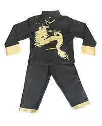 Chinese <b>Boy's Martial</b> Arts Outfits Embroidered Dragon-<b>Black</b>