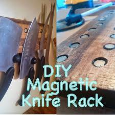 wood making oak knife rack