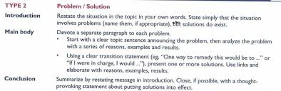 type  problem solution essay   paving the way for the ecpe writing in this essay students analyze an issue and its various problems and offers solutions each problem is presented in a separate paragraph