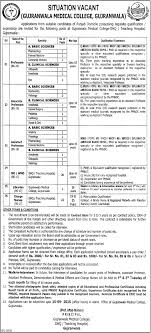 medical college jobs advertisement application form gujranwala medical college jobs 2015 advertisement application form