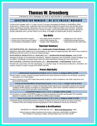 perfect construction manager resume to get approved how to write construction manager resume indeed