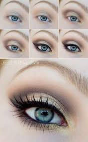 winter makeup tutorial for blue eyes