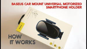 <b>Baseus Future Gravity</b> Car Mount Universal Motorized Smartphone ...