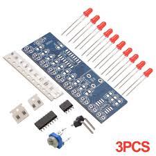 <b>3pcs</b> Integrated NE555 + CD4017 <b>Light</b> Water Flowing <b>Red LED</b> ...