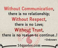 Without Communication, there is no relationship via Relatably.com