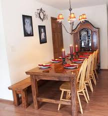 elegant rustic farmhouse table bench
