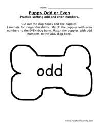 Even and Odd Worksheets - Have Fun Teachingpuppy odd even game