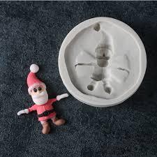 <b>Christmas Santa Claus Silicone</b> Mold Fondant Mould Cake ...
