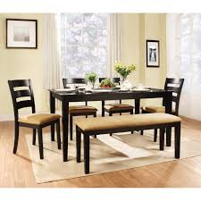 Dining Room Table With Benches Here39s A Counter Height Square Dining Room Table With Bench