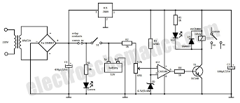 automatic battery charger circuit automatic battery charger circuit schematic