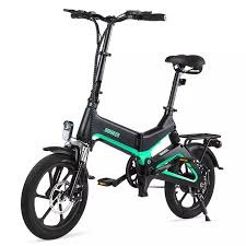 <b>Dohiker 16 Inch</b> Electric Bike Removable 7.5AH Lithium Ion Battery ...