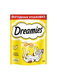 <b>Лакомство для кошек Dreamies</b> подушечки с сыром, 140г ...