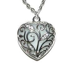 Image result for Steampunk Glow in the Dark Necklace Heart Pendant