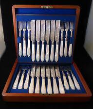 Sheffield антикварные серебряные столовые приборы — наборы