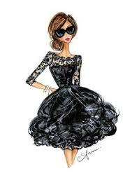 черное: лучшие изображения (24)   Модные иллюстрации ...