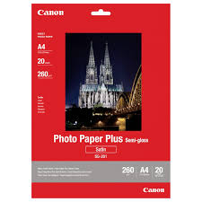 <b>Canon SG</b>-<b>201</b> 260/A4/20л Photo <b>Paper</b> Plus Semi-Gloss (1686B021)