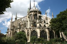 david joyal holly hayes chevet east end of notre dame with round ambulatory and flying buttresses topped with pinnacles cathacdrale de notre dame