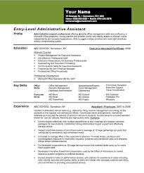 entry level administrative assistant resume sample admin assistant cv example resume templates for administrative assistants